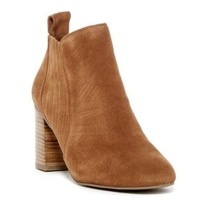 14th & UNION NWOT Cognac Suede Leather Booties